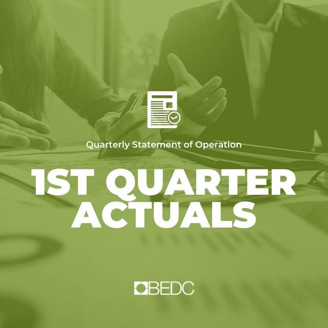 1st Quarter 2018-2019 Actuals